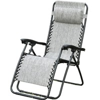 Zero Gravity Outdoor Recliner Lounge Chair - Granite Gray