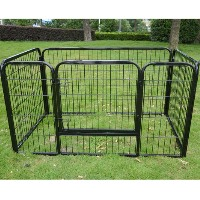 """High Quality 4 Panels 28"""" Pet Dog Play Exercise Playpen"""