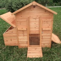 Deluxe Wooden Chicken Coop Hen House and Nesting Box