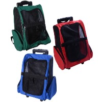 High Quality Deluxe Pet Dog Carrier Backpack Luggage Box w/Wheels