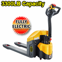 "Fully Electric Hand Pallet Truck - 3300lbs Cap. - 48"" x27"" - CBD15W-E"