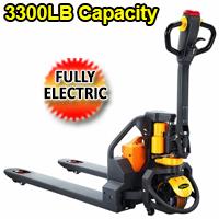 "Fully Electric Lithium Pallet Jack - 3300Lbs Cap. - 48"" x27"" - CBD15W-Li"