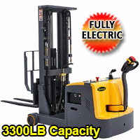 "Counterbalanced Fully Electric Stacker 3300lbs - 177"" High- CPD15W"