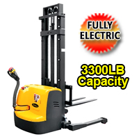 "Fully Powered Straddle Walkie Stacker - 3300 lbs Cap. - 118""-220""Lifting - CTDR15-III"