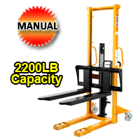 "Manual Lift Table W/Adjustable Forks - 2200lbs Capacity - 63"" lifting height - SDJA1000-I"