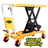 "Single Scissor Lift Table - 1760 lbs - 39.4"" lifting height - SP800"