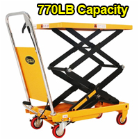 "Double Scissors Lift Table- 770 lbs - 51.2"" lifting height - SPS350"