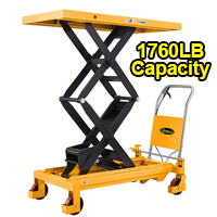 "Double Scissor Lift Table - 1760 lbs - 59"" lifting height - SPS800"