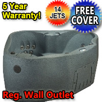 AquaRest Hot Tub Spa AR-300 2 Person 14-Jet Plug and Play Spa