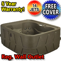 AquaRest Hot Tub Spa AR-400 4 Person 14-Jet Plug and Play Spa