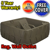 AquaRest Hot Tub Spa AR-500 5 Person 19-Jet Plug and Play Spa Jacuzzi