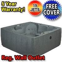 AquaRest Hot Tub Spa AR-600 6 Person 19-Jet Plug and Play Spa