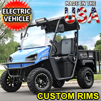 Brand New 48V American LandMaster E-Cruiser Utility Vehicle Electric 2WD 4 Stroke UTV - E-Cruiser w/Custom Rims