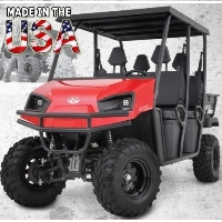 American LandStar LSC4 Gas Powered Crew Cab Utility Vehicle 4WD UTV - 4 Seater