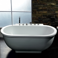 Freestanding Bathtub Ariel Platinum Whirlpool Bath Tub - AM128JDCLZ 71""