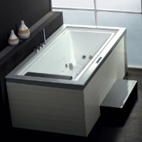 Freestanding Bathtub Ariel Platinum Whirlpool Bath Tub - AM146JDTSZ 76""
