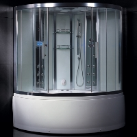"Ariel Platinum Steam Shower Enclosure & Whirlpool Bathtub Unit 59"" x 59"" x 89"""