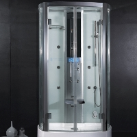 "Ariel Platinum White Steam Shower 47.2"" x 33.5"" x 88.6"""" - DZ943F3"