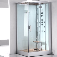 "Ariel Platinum Ariel Platinum White Steam Shower 39.4"" x 35.4"" x 89.2"" - DZ960F8W"