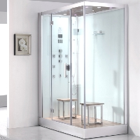 "Ariel Platinum White Steam Shower 59"" x 35.4"" x 89.2"" - DZ961F8W"