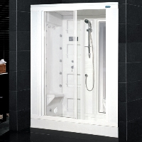 "Ariel AmeriSteam White Steam Shower 59"" x 31"" x 85"" - ZA205"