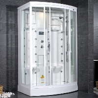 "Ariel AmeriSteam White Steam Shower 56"" x 38"" x 85"" - ZA213"