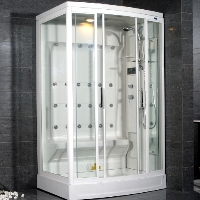 "Ariel AmeriSteam White Steam Shower 52"" x 40"" x 86"" - ZA219"