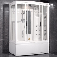 "Ariel AmeriSteam White Steam Shower 59"" x 36"" x 87"" - ZAA208"