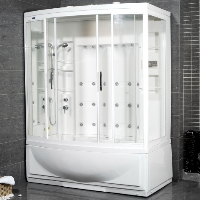 "Ariel AmeriSteam White Steam Shower 68"" x 42"" x 87"" - ZAA210"
