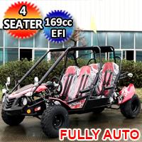 TrailMaster Blazer4 200EX 200cc Size Go Kart 168.9cc Full Size 4 Seater Fully Automatic w/Reverse Dune Buggy
