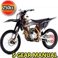 250cc Manual 5 Gear Electric & Kick Start Dirt Bike - EGL A16 RS 250 L