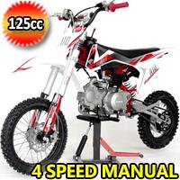 125cc Manual 4 Speed Dirt Bike W/Kick Start - EGL A10 PRO 125
