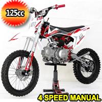 125cc Manual 4 Speed Dirt Bike W/Kick Start - EGL A11 PRO 125