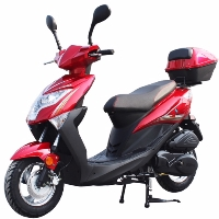 150cc Gas Scooter Moped With Automatic Transmission & Halogen Headlight