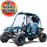 "200 GKX Wrangler Go Kart With 169cc Motor Adult Size W/21""F/22""R Tires"