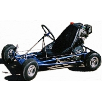 "Brand New Go Kart Kit with 5"" Nylon Wheels"
