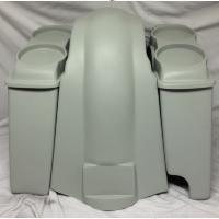 "Harley Davidson Heritage Softail 4"" Extended Saddlebags Dual 6.5"" Speaker Lids + Fender Right Cutout"