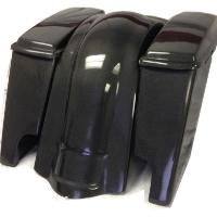 """Harley Davidson Carbon Fiber 4"""" Extended Stretched Saddlebags + Lids & Rear Fender"""