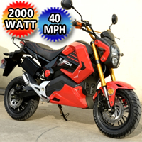 2000 Watt Marvel Electric Motorcycle Scooter Moped Model: 578Z