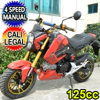 125cc Jumper Motorcycle Moped Scooter w/ Manual Trans. - BD125-15