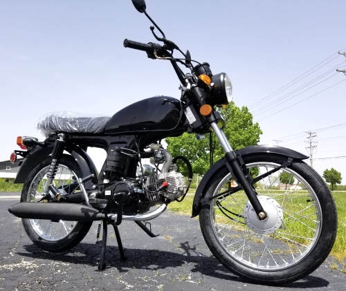 125cc Cafe Cruiser Racer Gas Bike Bicycle Style BoomCat Scooter Moped  Motorcycle W/Manual Trans  - BD125-2