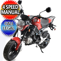125cc Nighthawk Motorcycle Moped Scooter w/ Manual Trans. - BD125-8