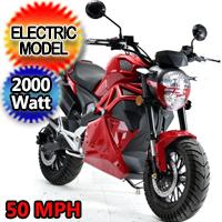New 2000 Watt Electric Motorcycle Moped Scooter - BD581Z 2000W