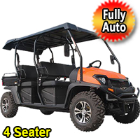 Bighorn Monster Gas Golf Cart Automatic w/ Reverse 391cc UTV Fuel Injected 30hp Utility Vehicle