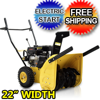 "6.5 22"" Snow Blower Thrower Electric Start 2 Stage - JXS65EM YELLOW"