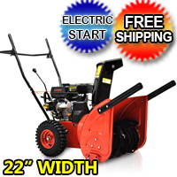 "6.5 22"" Snow Blower Thrower Electric Start 2 Stage - JXS65EM RED"