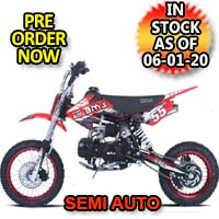 110cc Dirt Bike Semi Auto Racing Competition Pit Dirt Bike - BMS Pro - 110 Semi Auto