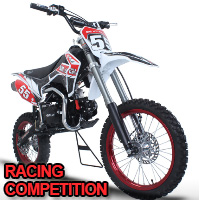 125cc 4 Speed Manual Racing Competition Pit Dirt Bike - BMS Pro Premium 125