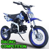 125cc 4 Speed Manual Kick Start Racing Competition Pit Dirt Bike - BMS Pro 125