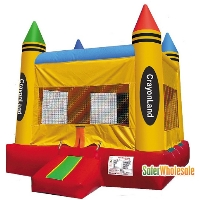 Commercial Grade 13' x 13' Inflatable Crayonland Bouncer Bouncy House